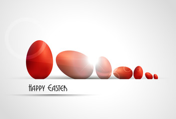Red eggs background.Easter.Vector illustration.