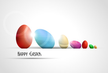 Easter background with colored eggs.Vector illustration.