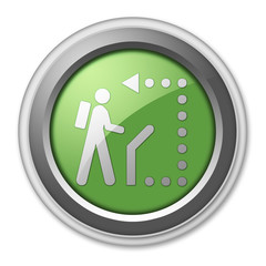 "Green 3D Style Button ""Self-Guiding Trail"""