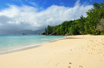 Tropical beach on Seychelles island