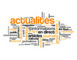 """Nuage de Tags """"ACTUALITES"""" (informations direct bouton médias)"""