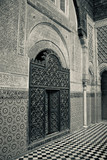Medersa in the medina of the ancient city of Fez, Morocco.