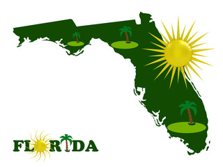 The solar Florida on a white background