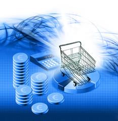 euro shopping concept