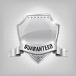 Glossy security silver shield - GUARANTEED