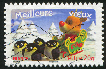 deer with penguins