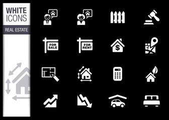 White - Real estate icons
