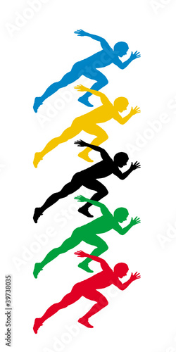 Sprinters start pose. vector file