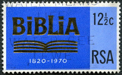 SOUTH AFRICA - 1970: shows Bible, dedicated 150th anniversary of