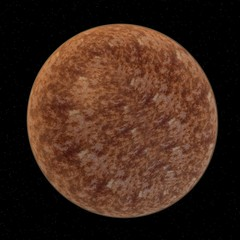 3d render of venus planet