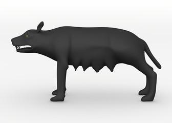 3d render of wolf animal