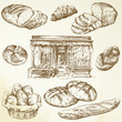 bread, bakery - hand drawn collection - 39739601