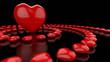Herzkreise Rot Schwarz 03