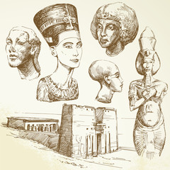 ancient egypt - hand drawn collection