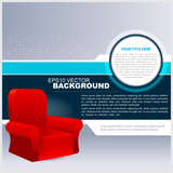 Vector Abstract Background With Chair