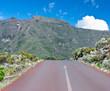 flèche sur chaussée, route volcan, la Réunion