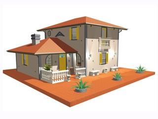 Casa Villa d'Epoca-Vintage House-3d