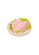 Vector fresh raw chicken breasts
