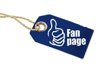Holzanhänger mit Fanpage