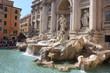 Leinwanddruck Bild - Fontaine de Trévi à Rome - Italie