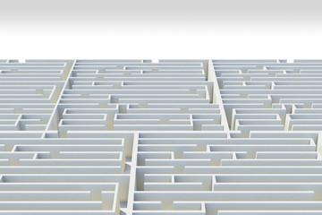 3d maze,bird eye view