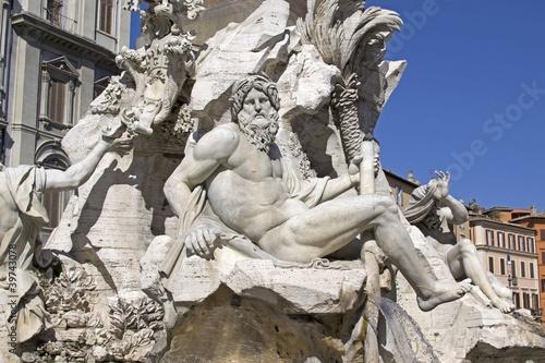 Foto: il gange della fontana dei quattro fiumi - roma