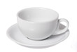 Isolated White Cappuccino Cup on White Background.