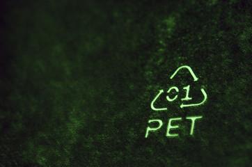 Símbolo de reciclaje, PET
