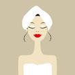 Pretty woman in spa salon