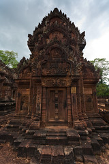 Ornately carved temple at Angkor Wat
