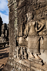 Apsara dancer wall carving