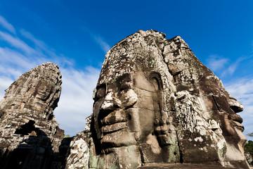Famous Angkor Wat head statues