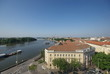 Cityscape of Szeged and the river of Tisza, Hungary