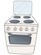Cartoon Home Kitchen Stove