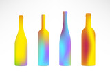 Bottles Color Gradient Silhouettes