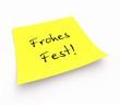 Notizzettel - Frohes Fest!
