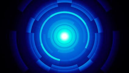 Lichtfusions-Effekt Blau