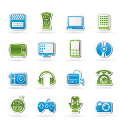 multimedia and technology icons - vector icon set