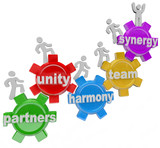 Synergy Partners Working Together in Teamwork for Success poster