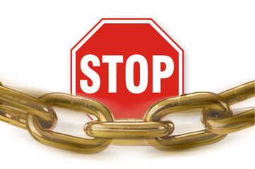 Stop Sign and Chain.