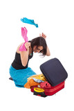 Woman packing