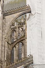 Building works on Saint Gatien cathedral