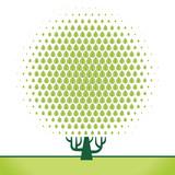 Рисунок геометрические деревья 5