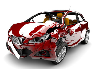 Red car accident © Cla78