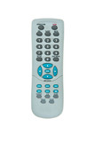 Old TV Remote Control with dust isolated on white background poster