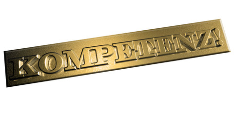 3D Goldschrift - KOMPETENZ