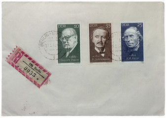 Three German Stamps