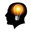Creative ideas light bulb concept