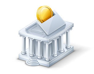 Bank building — moneybox