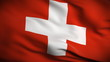 Swiss Flag HD. Looped.
